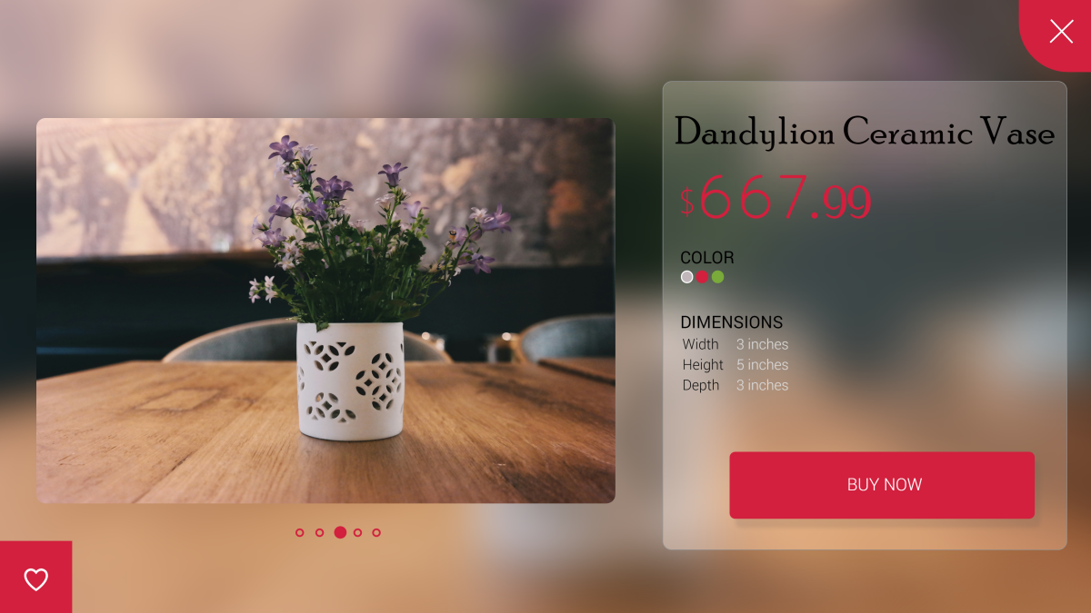 Daily UI Challenge: 012 (Single Product Design)